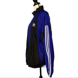 Vintage Adidas Black & Blue Zip Up Windbreaker EUC